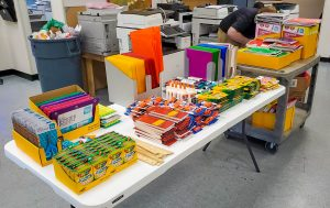 School supplies ready for local charities