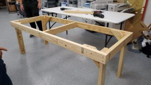 Hand crafted base of a table
